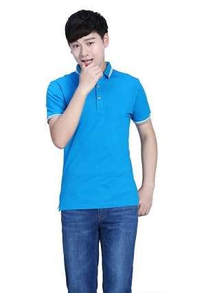 蓝色T恤定制