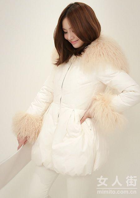 白色控女生最爱 冬季唯美穿搭