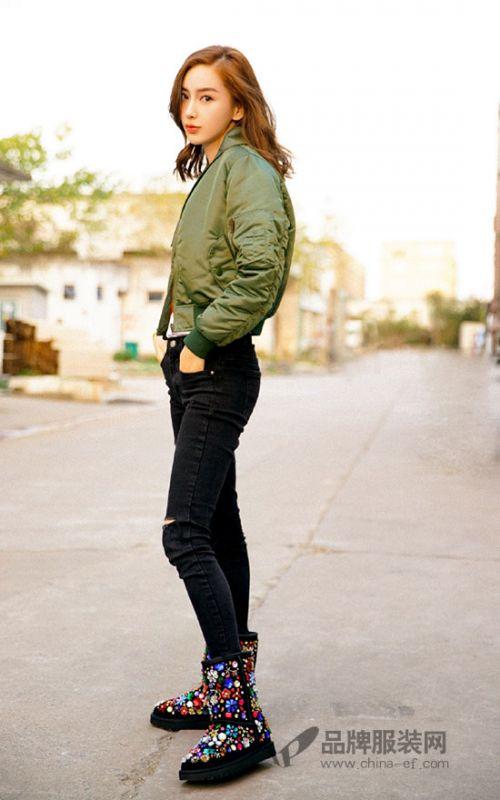 Angelababy最新秋冬时尚街拍美照